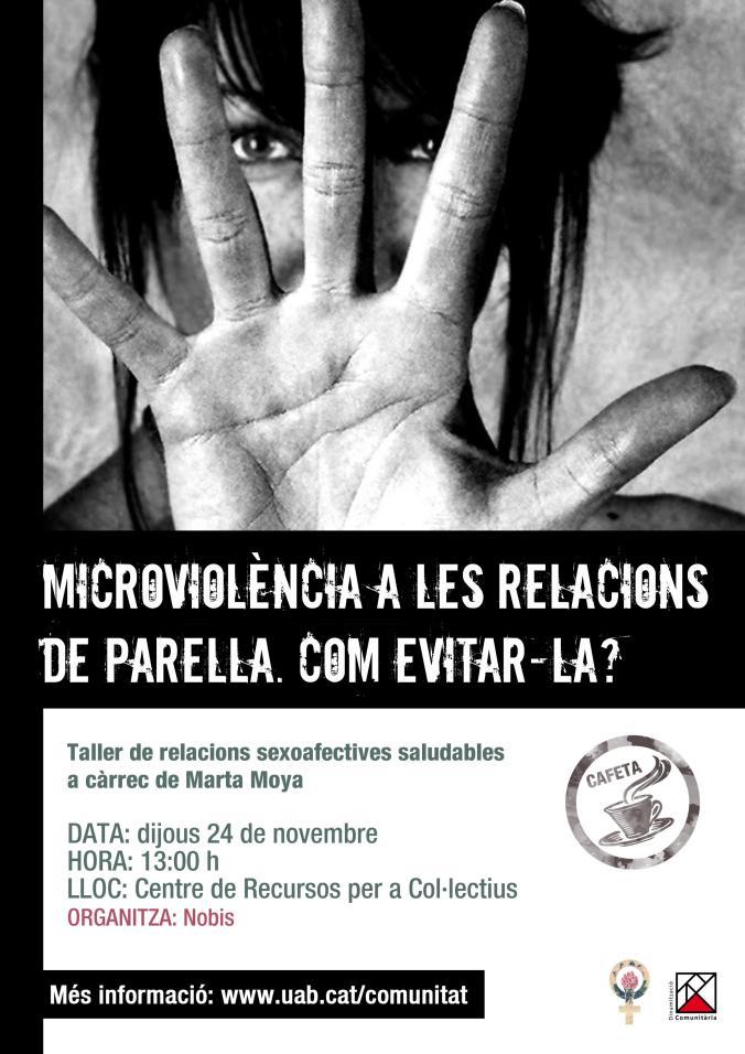 Cafeta Microviolències a les relacions de parella